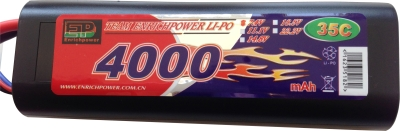 7,4V 4000MAH BATTERI LIPO 35C i gruppen Hobby og fritid / Rc / Motor lader og batteri hos Gla´pris (Efa Marked AS) (200000001315-8007---)