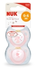 NUK NUK SMOKK LA BABY ROSE 0-6 M/RING 2P