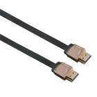 HAMA HDMI KABEL ETHERNET 1,5M SVART FLEX