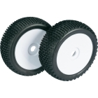 WHEEL SET BUGGY DISC / DIRT WHITE 1:8 (2