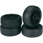 WHEEL SET ONROAD 15 SPOKE / SLICK BLACK