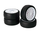 WHEEL SET ONROAD 15 SPOKE / SLICK WHITE