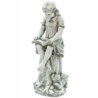STATUE GIRL AND BOOK 89CM