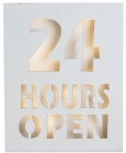 BILDE M/LED LYS 24 HOURS OPEN H:30