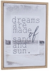 BILDE M/TEKST  DREAMS ARE MADE....,50