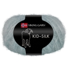 GARN VIKING KID SILK 314 STØVET PETROL