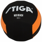 BEACHBALL 14, SORT/ORANSJE,