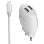 GEAR LADER 220V 2XUSB 2,4A HVIT LIGHTNIN